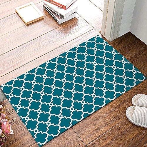 Jkimiiscute Teppich/Fußmatte, marokkanisches Muster, marokkanisches Muster, für den Innenbereich, Rutschfest, zottelig, 59,9 x 39,9 cm, L x B -