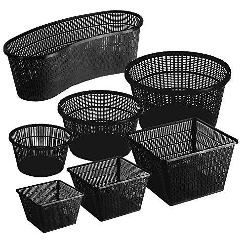 Pflanzkorb Set Pflanzhilfe Wasserpflanzen verschiedene größen Sets ideal für Fertigteiche Gartenteiche unf Fischteiche - 5er - Ø 13cm