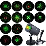 [ANTSIR Galaxy projector Light] Outdoor&Indoor Waterproof Red & Green Landscape Lights for New Year, Theme Party, Wedding, Night Club, Yard and Garden