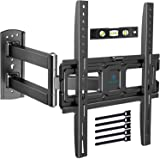 TV Wall Bracket - Full Motion TV Wall Mount Swivels, Tilts, Extends - for most 26-55 Inch Flat and Curved TVs - Holds up to 2