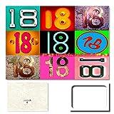 """DigitalOase Geburtstagskarte """"18 Herzlichen Glückwunsch"""" - Riesige Geschenkkarte Jubiläumskarte -"""
