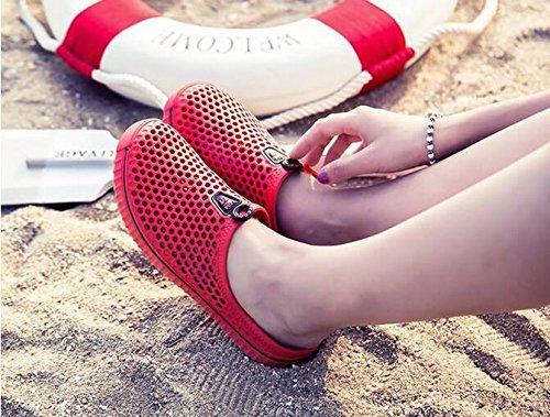 Damen / Herren Mesh Sandalen atmungsaktiv und leicht Sommer Casual Slipper Red
