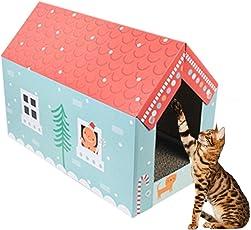 Katze Scratch Board Pappe Katzenhaus Katzenkratzbrett Schleifgerät Wellpappe Verschleißfest