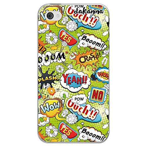 dakanna Kompatibel mit [iPhone 4-4S] Flexible Silikon-Handy-Hülle [Transparent] Phrasen Comic-Stil Design, TPU Case Cover Schutzhülle für Dein Smartphone Stil Design Iphone