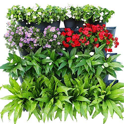 Photo Gallery worth garden set da 14 pezzi irrigazione automatica pianta verticale vaso da fiori balcone patio cortile e cortile, giardino di 1 metro quadrato wall,grigio