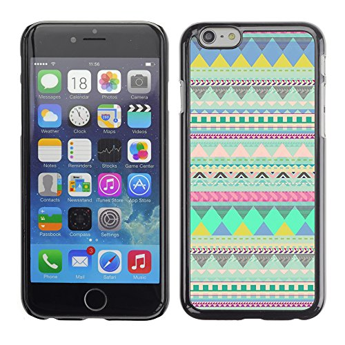 Graphic4You COLORFUL TRIBAL Muster Harte Hülle Case Tasche Schutzhülle für Apple iPhone 6 / 6S Design #4