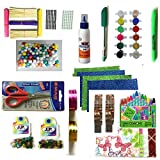 #8: HaappyBox Art and Craft kit of Colors, Tapes, Glitters, Mirrors and many more (Medium, 16 items)