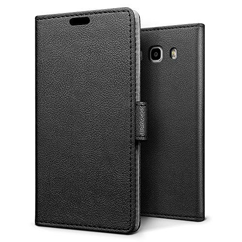 Funda Samsung J5 2016,SLEO Cartera Carcasa Piel PU Suave Flip Folio Ca