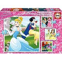 Disney Princesas Puzzles progresivos de 12, 16, 20 y 25 piezas (Educa Borrás 17166)