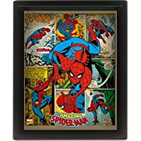Marvel Retro 10 x 20,32 cm Spider-Man con marco 3D Póster, Multi-color