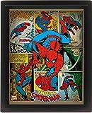 Marvel Retro 10 x 20,32 cm Spider-Man con Marco 3D Póster