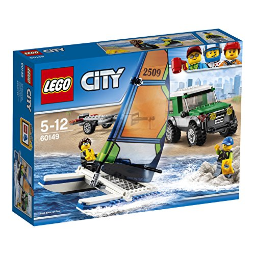 LEGO City 60149 - Geländewagen mit Katamaran, Kinderspielzeug