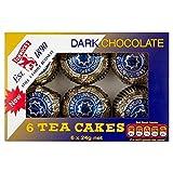Tunnock 's-Tee Kuchen Dunkle Schokolade 6x 24g (Packung von 2)