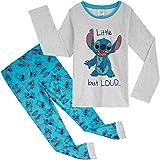 Disney Stitch Girls Pyjamas, Cotton Girls Pjs Set Long, Stitch Gifts