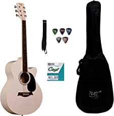 Xtag Recommended For Acoustic Guitars X-40C Cutaway With Gig Bag, Belt, String.Set, Plectrum Complete Pack.