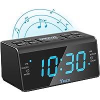 """[Neue Version] Radiowecker,Tinzzi Digitales FM/AM Uhren-Radio Mit Nachtlicht-Funktion,Digitales LED Wecker mit 4.3 """"/ 110mm LED-Display / Dual-Alarm mit Snooze / Dimmer, Batterie-Backup /Anpassbare"""