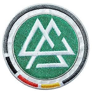 Bügelbild – DFB Fußball Logo / Deutscher Fussball Bund – 7 cm * 7 cm – Fußball – Aufnäher gestickter Flicken / Applikation – Emblem Wappen – Jungen Kinder – Sport Verein