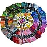 L de 50pcs Multicolor madejas poliéster algodón hilo de bordar punto de cruz hilo de coser