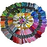 L 's 50PCS mehrfarbige Garnknäuel Stickgarn aus Polyester Baumwolle Kreuzstich Nähgarn