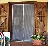 takestop magnetisch Moskitonetz mit Magnet 260x 170cm mit 100cm universal Insektenschutz Fenster Tür reduzierbaren 70cm Klettverschluss gerade Kante Mücken Fliegen