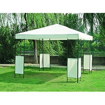 Moderner Pavillon COLOMBO 3x3, Dach wasserdicht weiss