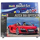 Picture Of Revell 67094 126 Pieces Audi R8 Spyder Model Set, 1:24 Scale, Level 4, Multi-Color