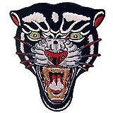ZEGIN Aufnäher, Bestickt, Design: der Brüllende Panther, Zum Aufbügeln Oder Aufnähen