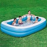 Blue Rectangular Family Pool - Planschbecken 269x175 cm