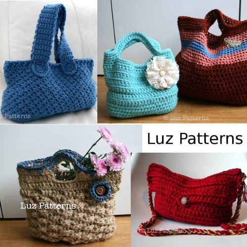 Crochet book, Vintage inspired bag collection (01) (English - Crochet Collection Kostüm