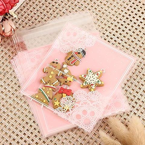 Tutoy 100Pcs Sac De Bonbons De Noël Cookie De Noël Sac D'Emballage Cadeau -10