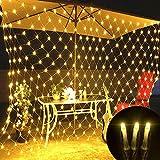 lchde 204 LED Lichternetz Lichtervorhang Lichterkette Innen und Außen Leuchte Weihnachten Hochzeit Dekoration mit Stecker