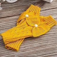 ajunt de lana Mode KlaudiasStore Guantes de los dedos en otoño y Invierno Algodón rocío se refiere a los Estudiantes. Guantes fríos, amarillo