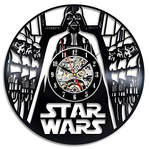 yifutang Star Wars Schallplatten Wanduhr Retro Vinyl Wall Clock