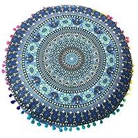 Contenuto del pacco:  1X indiana Mandala Floor cuscini rotondi Cuscino Bohemian caso della copertura Cuscini Cuscini  Portate colore nella vostra casa per la primavera con questo Super Groovy rotonde pouf cuscino piano forma con bordi felici ...