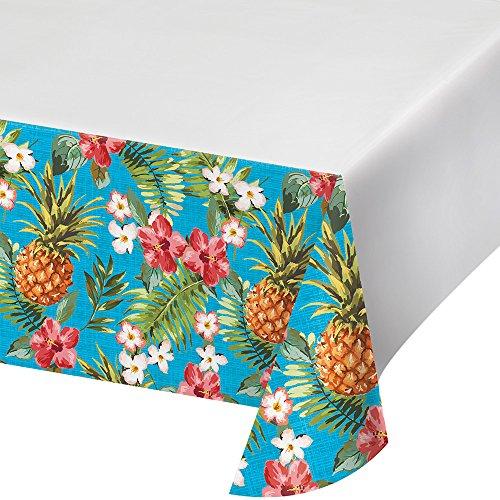 Unbekannt Creative Converting 319998Border Print Kunststoff-Tischdecke, 137,2x 259,1cm Aloha - Ananas Grenze