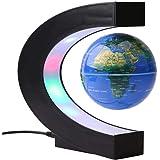 Fdit 3 tums LED C formad magnetisk glob antigravitation fram och tillbaka bollkort för skrivbordsdekoration (EU) (EU-kontakt)