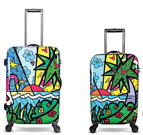 Sets de Bagages, valises - Première Classe Valise Rigide Set 2 pièces - Heys Artistes Britto Palm Bagages à Main + Trolley avec 4 Roues Grand