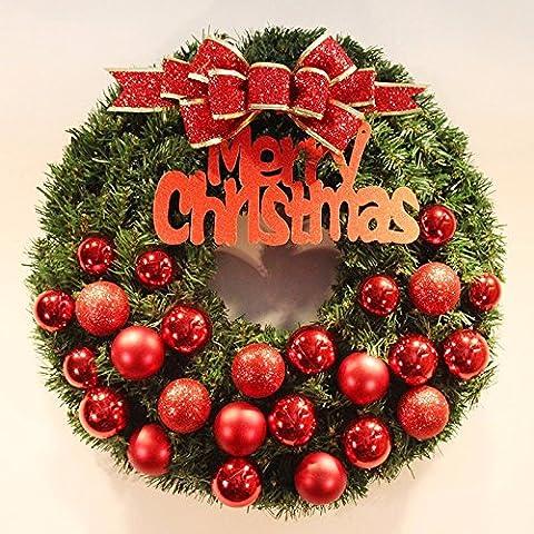 Navidad perlado cartas puerta de Navidad decoraciones decoración de Navidad,red,60CM