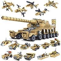 Jouets Éducatifs Armée Militaire Artisanat Réservoir Avion Blocs de Construction