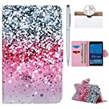 Galaxy Tab 4 7.0 Case,Smart Cover Case for Samsung Galaxy Tab 4 7.0 SM-T230 ,Felfy Colorful Painting Mandala Design Ultra Thin Premium PU Leather Cover, Stand Folio Book Style [Card Slot][Magnetic Closure] Wallet Flip Shockproof Cover for Samsung Galaxy Tab 4 7.0 SM-T230 , 1 X Stylus Pen,1 X Dust Plug.Starry Sky