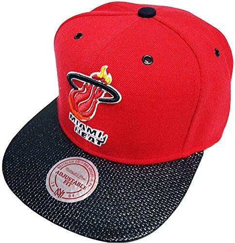 Mitchell & Ness Miami Heat Fibre Snapback Cap EU 281 Kappe Basecap
