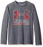 Under Armour Hybrid Big Logo T Chemise à Manches Longues Enfant, Noir/Rouge, XS