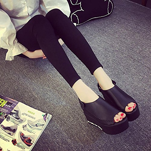 Webla Frauen Sandalen Weibliche Keil Plattform Schuhe Elegante High Heel Sandalen Black