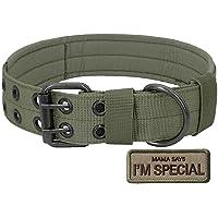 S.Lux Collare tattico per cani, in nylon, stile militare, regolabile, con fibbia a D in metallo, per l'addestramento del…