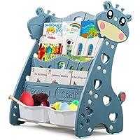 Bibliothèque pour Enfants Étagère à 4 Niveaux Meuble de Rangement pour Livres Rangement Jouet et Livres Enfant Étagère…