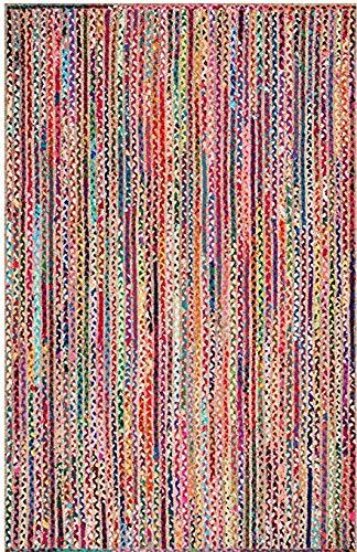 Icrafty Teppich, rechteckig, handgeflochten, Baumwolle 2x6(60x180 cm) Multi -