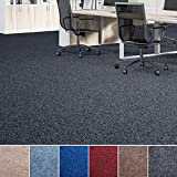 Floori® Nadelfilz Teppich, GUT-Siegel, Emissions- & geruchsfrei, wasserabweisend | Viele Farben & Größen (100x200 cm, anthrazit)