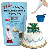 BOGATCHI Whipping Cream Powder, Tasty   Non GMO   Gluten Free, Whipping Cream for Cakes, Muffins, Cup Cakes, Tarts, Coffee, 1