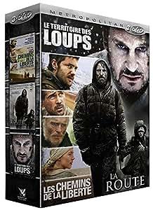 Survie - Coffret 3 films : Le territoire des loups + La route + Les chemins de la liberté