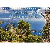 Sehnsuchtsinseln Capri und Ischia (Tischkalender 2017 DIN A5 quer): Träume vom azurblauen Meer begleiten Sie durch das Jahr (Monatskalender, 14 Seiten ) (CALVENDO Orte)